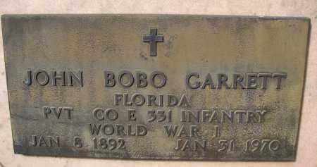 GARRETT (VETERAN WWI), JOHN BOBO - Palm Beach County, Florida   JOHN BOBO GARRETT (VETERAN WWI) - Florida Gravestone Photos