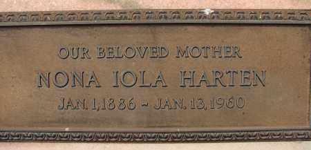 HARTEN, NONA IOLA - Palm Beach County, Florida | NONA IOLA HARTEN - Florida Gravestone Photos