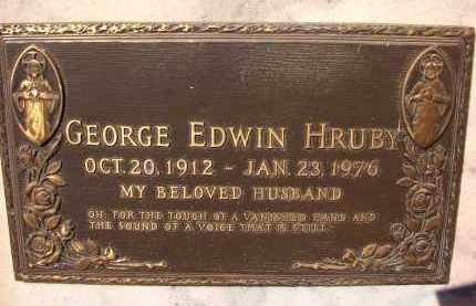 HRUBY, GEORGE EDWIN - Palm Beach County, Florida | GEORGE EDWIN HRUBY - Florida Gravestone Photos