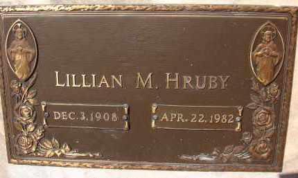 HRUBY, LILLIAN M. - Palm Beach County, Florida | LILLIAN M. HRUBY - Florida Gravestone Photos