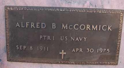 MCCORMICK (VETERAN), ALFRED B - Palm Beach County, Florida | ALFRED B MCCORMICK (VETERAN) - Florida Gravestone Photos