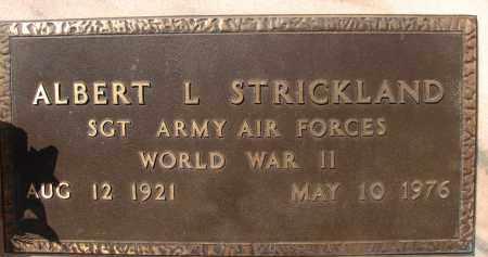 STRICKLAND (VETERAN WWII), ALBERT L. - Palm Beach County, Florida | ALBERT L. STRICKLAND (VETERAN WWII) - Florida Gravestone Photos