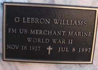 WILLIAMS (VETERAN WWII), G. LEBRON - Palm Beach County, Florida   G. LEBRON WILLIAMS (VETERAN WWII) - Florida Gravestone Photos