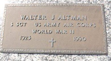 ALTMAN (VETERAN WWII), WALTER J. (NEW) - Pasco County, Florida   WALTER J. (NEW) ALTMAN (VETERAN WWII) - Florida Gravestone Photos