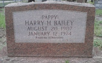 "BAILEY, HARRY H. ""PAPPY"" - Pasco County, Florida | HARRY H. ""PAPPY"" BAILEY - Florida Gravestone Photos"