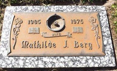 BERG, MATHILDE J.  - Pasco County, Florida | MATHILDE J.  BERG - Florida Gravestone Photos