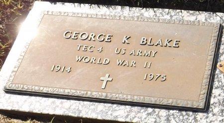 BLAKE (VETERAN WWII), GEORGE K. (NEW) - Pasco County, Florida | GEORGE K. (NEW) BLAKE (VETERAN WWII) - Florida Gravestone Photos