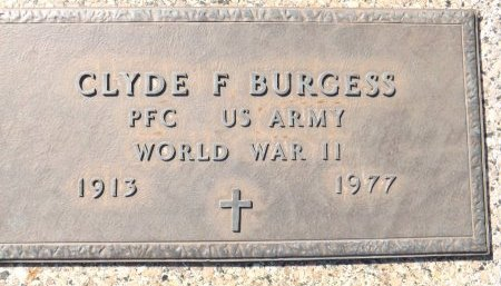 BURGESS (VETERAN WWII), CLYDE F. (NEW) - Pasco County, Florida | CLYDE F. (NEW) BURGESS (VETERAN WWII) - Florida Gravestone Photos