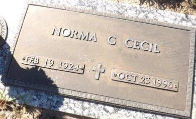 CECIL, NORMA G. - Pasco County, Florida | NORMA G. CECIL - Florida Gravestone Photos