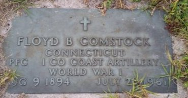 COMSTOCK (VETERAN WWI), FLOYD B. (NEW) - Pasco County, Florida | FLOYD B. (NEW) COMSTOCK (VETERAN WWI) - Florida Gravestone Photos
