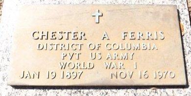 FERRIS (VETERAN WWI), CHESTER A. (NEW) - Pasco County, Florida | CHESTER A. (NEW) FERRIS (VETERAN WWI) - Florida Gravestone Photos
