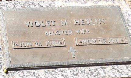 HESLIN, VIOLET M.  - Pasco County, Florida   VIOLET M.  HESLIN - Florida Gravestone Photos