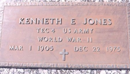JONES (VETERAN WWII), KENNETH E. (NEW) - Pasco County, Florida | KENNETH E. (NEW) JONES (VETERAN WWII) - Florida Gravestone Photos