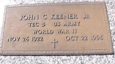 KEENER (VETERAN WWII), JOHN C. (NEW) - Pasco County, Florida   JOHN C. (NEW) KEENER (VETERAN WWII) - Florida Gravestone Photos