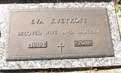 KVETKOFF, EVA - Pasco County, Florida | EVA KVETKOFF - Florida Gravestone Photos