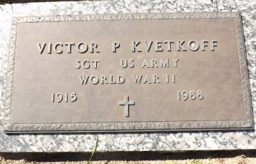 KVETKOFF (VETERAN WWII), VICTOR P. (NEW) - Pasco County, Florida | VICTOR P. (NEW) KVETKOFF (VETERAN WWII) - Florida Gravestone Photos