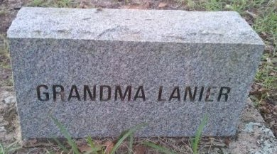 LANIER, GRANDMA - Pasco County, Florida | GRANDMA LANIER - Florida Gravestone Photos