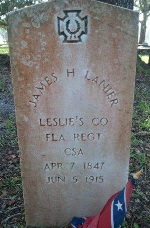 LANIER (VETERAN CSA), JAMES H. (NEW) - Pasco County, Florida | JAMES H. (NEW) LANIER (VETERAN CSA) - Florida Gravestone Photos