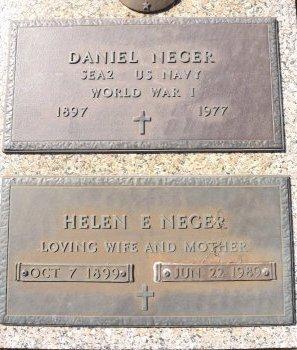 NEGER, HELEN E.  - Pasco County, Florida | HELEN E.  NEGER - Florida Gravestone Photos