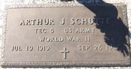 SCHUTTE (VETERAN WWII), ARTHUR J. (NEW) - Pasco County, Florida | ARTHUR J. (NEW) SCHUTTE (VETERAN WWII) - Florida Gravestone Photos