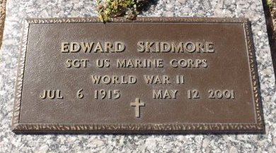 SKIDMORE (VETERAN WWII), EDWARD (NEW) - Pasco County, Florida | EDWARD (NEW) SKIDMORE (VETERAN WWII) - Florida Gravestone Photos