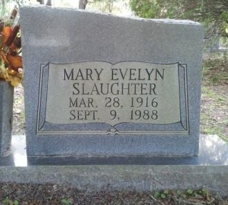 SLAUGHTER, MARY EVELYN - Pasco County, Florida | MARY EVELYN SLAUGHTER - Florida Gravestone Photos