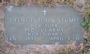 STUMPF (VETERAN WWI), GEORGE JOHN (NEW) - Pasco County, Florida   GEORGE JOHN (NEW) STUMPF (VETERAN WWI) - Florida Gravestone Photos