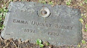 BAILEY, EMMA DUDLEY - Pinellas County, Florida | EMMA DUDLEY BAILEY - Florida Gravestone Photos