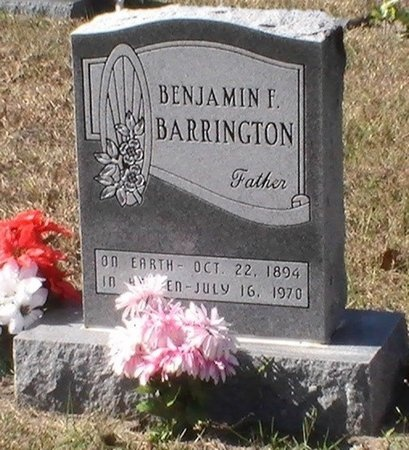 BARRINGTON, BENJAMIN F. - Pinellas County, Florida | BENJAMIN F. BARRINGTON - Florida Gravestone Photos
