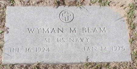 BEAM (VETERAN WWII), WYMAN M. - Pinellas County, Florida | WYMAN M. BEAM (VETERAN WWII) - Florida Gravestone Photos