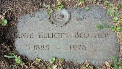 ELLIOTT BELCHER, JANIE - Pinellas County, Florida | JANIE ELLIOTT BELCHER - Florida Gravestone Photos