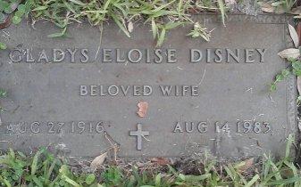 DISNEY, GLADYS ELOISE - Pinellas County, Florida | GLADYS ELOISE DISNEY - Florida Gravestone Photos