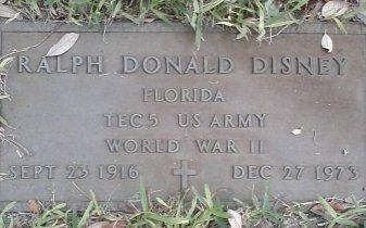 DISNEY (VETERAN WWII), RALPH DONALD (NEW) - Pinellas County, Florida | RALPH DONALD (NEW) DISNEY (VETERAN WWII) - Florida Gravestone Photos