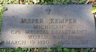 KEMPER (VETERAN WWI), JASPER (NEW) - Pinellas County, Florida | JASPER (NEW) KEMPER (VETERAN WWI) - Florida Gravestone Photos