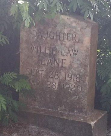 LANE, WILLIE LAW - Pinellas County, Florida   WILLIE LAW LANE - Florida Gravestone Photos