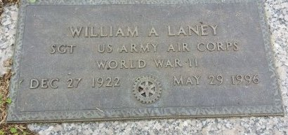LANEY (VETERAN WWII), WILLIAM A. (NEW) - Pinellas County, Florida | WILLIAM A. (NEW) LANEY (VETERAN WWII) - Florida Gravestone Photos