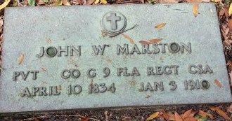 MARSTON (VETERAN CSA), JOHN W. (NEW) - Pinellas County, Florida   JOHN W. (NEW) MARSTON (VETERAN CSA) - Florida Gravestone Photos