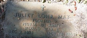 MAY (VETERAN WWI), JULIET (NEW) - Pinellas County, Florida   JULIET (NEW) MAY (VETERAN WWI) - Florida Gravestone Photos