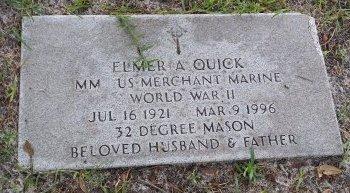 QUICK (VETERAN WWII), ELMER A. (NEW) - Pinellas County, Florida | ELMER A. (NEW) QUICK (VETERAN WWII) - Florida Gravestone Photos