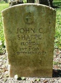 SHARPE (VETERAN), JOHN C.  (NEW) - Pinellas County, Florida   JOHN C.  (NEW) SHARPE (VETERAN) - Florida Gravestone Photos