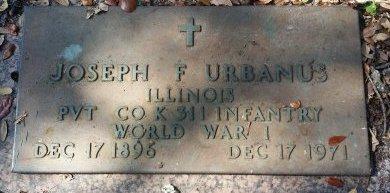 URBANUS (VETERAN WWI), JOSEPH F. (NEW) - Pinellas County, Florida | JOSEPH F. (NEW) URBANUS (VETERAN WWI) - Florida Gravestone Photos