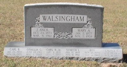 WALSINGHAM, SUMTER L. - Pinellas County, Florida | SUMTER L. WALSINGHAM - Florida Gravestone Photos