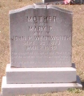 WENTWORTH, MARY EMILY - Pinellas County, Florida | MARY EMILY WENTWORTH - Florida Gravestone Photos