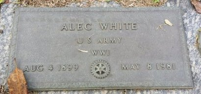 WHITE (VETERAN WWI), ALEC (NEW) - Pinellas County, Florida | ALEC (NEW) WHITE (VETERAN WWI) - Florida Gravestone Photos