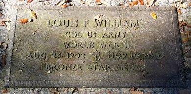 WILLIAMS (VETERAN WWII), LOUIS F. (NEW) - Pinellas County, Florida | LOUIS F. (NEW) WILLIAMS (VETERAN WWII) - Florida Gravestone Photos