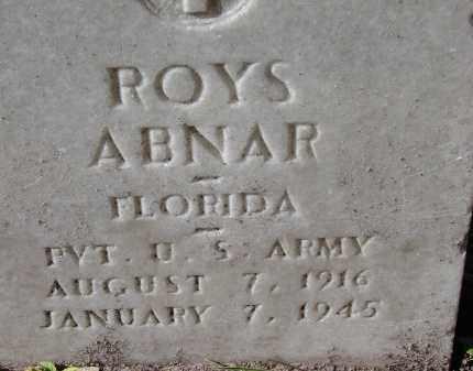 ABNAR (VETERAN), ROYS - Sarasota County, Florida   ROYS ABNAR (VETERAN) - Florida Gravestone Photos
