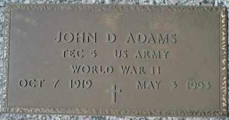 ADAMS (VETERAN WWII), JOHN D. - Sarasota County, Florida | JOHN D. ADAMS (VETERAN WWII) - Florida Gravestone Photos