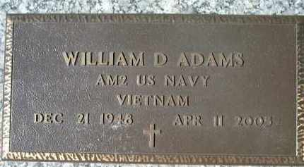 ADAMS (VETERAN VIET), WILLIAM D. - Sarasota County, Florida | WILLIAM D. ADAMS (VETERAN VIET) - Florida Gravestone Photos