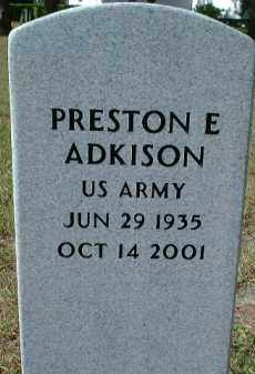 ADKISON (VETERAN), PRESTON EUGENE - Sarasota County, Florida | PRESTON EUGENE ADKISON (VETERAN) - Florida Gravestone Photos