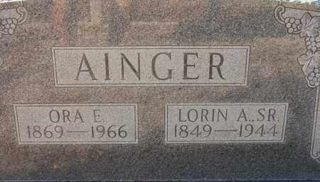 AINGER, ORA E. - Sarasota County, Florida | ORA E. AINGER - Florida Gravestone Photos